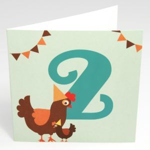 Kort Høne (Stor) - 2 år fødselsdag-0