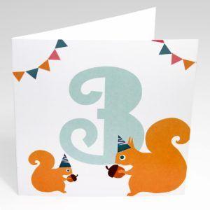 Kort Egern (Stor) - 3 år fødselsdag-0