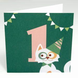 Kort Kat (Stor) 1 år fødselsdag-0