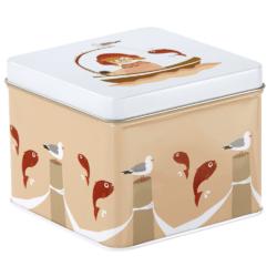 Lille tinboks   Godkendt til opbevaring af mad   BLAFRE  