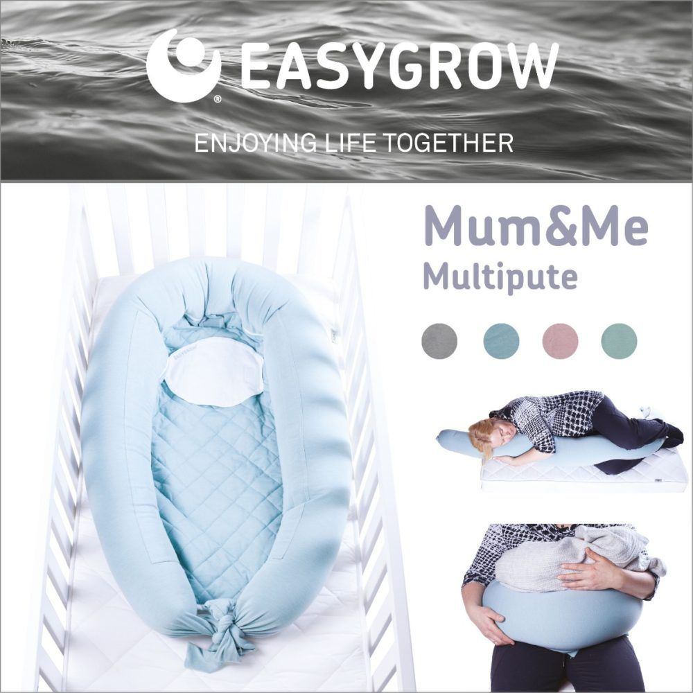 Easygrow - Mum & Me Ammepude (og Babynest), Petrol-5765