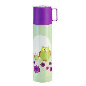 Termokande, Ugle, mint og lilla (450ml)-0
