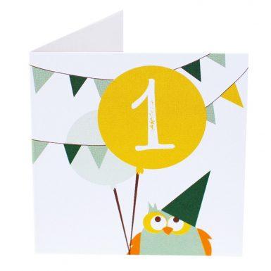 Kort Fødselsdag 1 år (Lille)-0