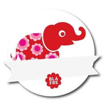 Navnemærke - Rød Elefant-0