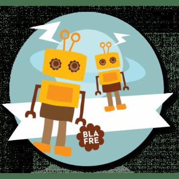 Navnemærke - Robot-0