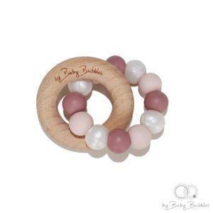 bybabybubbles-bide-ring-teething-ring-berrylicious-pink-dusty-rose-pearl