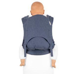Fidella Flyclick Plus - Hlafbuckle Bæresele - Chevron - Denim Blue - Toddler-0