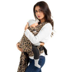 Fidella FlyClick Plus - Halfbuckle Bæresele - Leopard/Gold - Toddler-0