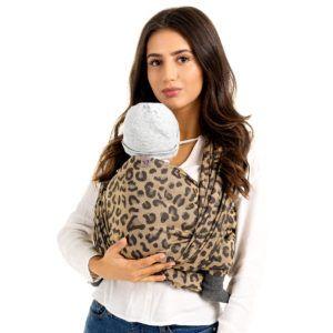 Fidella - Baby Wrap Fastvikle - Leopard/Gold-0