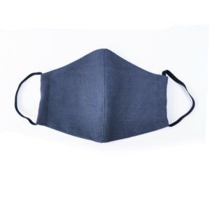 Fidella Mundbind-Chevron-Denim Blue med elastik-0