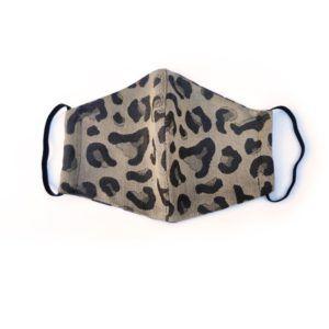 Fidella Mundbind-Leopard-Gold med elastik-0