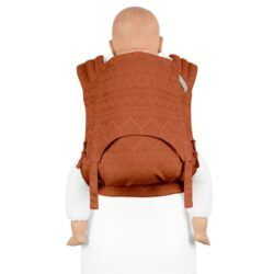Fidella - Fly Tai Mei Tai - Cubic Lines/Rustred - Toddler-0