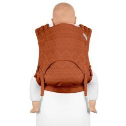 Fidella FlyClick Plus - Halfbuckle Bæresele - Cubic Lines/Rustred - Toddler-0