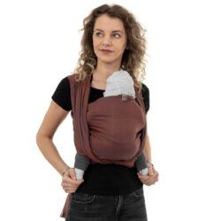 Fidella - Baby Wrap Fastvikle - Diamond/Rustred-0