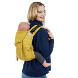 Fidella Onbuhimo Bæresele Toddler Chevron Mustard